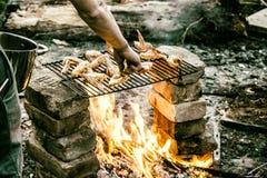 Alerones en llamas Foto de archivo libre de regalías