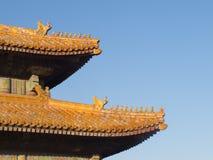 Aleros imperiales del doble del palacio de China Fotos de archivo