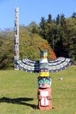 Totem Poles `Namgis First Nation Burial Ground, Alert Bay, BC Royalty Free Stock Images