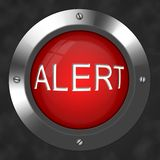 Alert button. An illustration for a tech alert button Royalty Free Stock Photo
