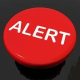 Alert Button Shows Danger Warning Or Beware Royalty Free Stock Photo