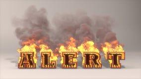 Alert flame. 3D rendered illustration of big alert flame Royalty Free Stock Photo