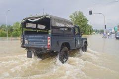 alert flod Arkivbild