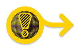 Alert icon with arrow Stock Image