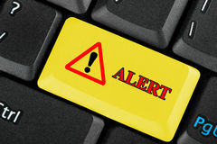 Alert icon button Stock Images