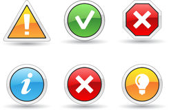 Alert icons Royalty Free Stock Images