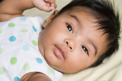 Alert Indian Baby stock photos