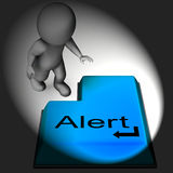 Alert Keyboard Shows Online Notification Or Reminder Royalty Free Stock Photo