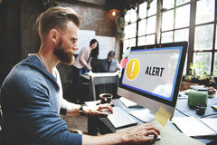 Alert Notification Exclamation Point Graphic Concept Royalty Free Stock Photo