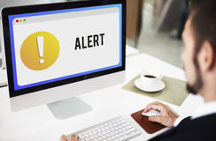 Alert Notification Exclamation Point Graphic Concept. Alert Notification Exclamation Point Graphic Royalty Free Stock Photos