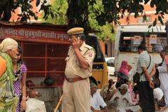 Alert Policeman Royalty Free Stock Image
