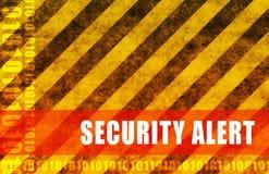 alert säkerhet Arkivbild