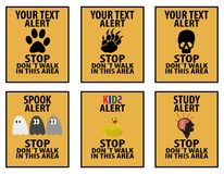 Alert signs Stock Photos