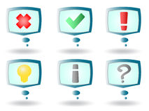 Alert symboler för skärm stock illustrationer