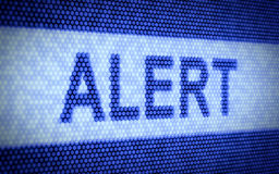 Alert text Stock Photo