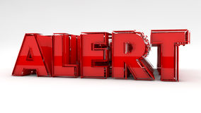 Alert text sign Stock Photography