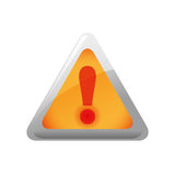 Alert triangle icon. Security and Protection care. Vector graphi Stock Photography