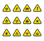 Alert triangles. On white Royalty Free Stock Photography