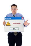 alert virus Fotografering för Bildbyråer