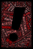 Alert word with symbol-text graphics a Royalty Free Stock Images