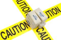 Alerta de alto grado en grasas y del colesterol Foto de archivo libre de regalías