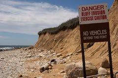 Alerta de la erosión del pen¢asco Foto de archivo libre de regalías