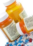 Advertencia de la medicación fotografía de archivo