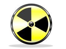 Alerta de la radiación Imagenes de archivo