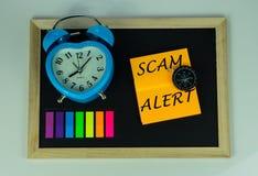 Alerta de Scam fotos de stock royalty free