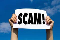 Alerta de Scam, conceito fotos de stock royalty free