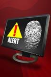 Alerta de segurança do desktop Foto de Stock Royalty Free