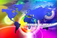 Alerta de segurança do mundo Fotografia de Stock Royalty Free