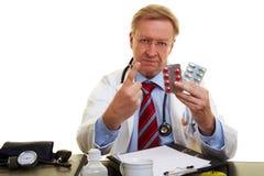Alerta del doctor de efectos secundarios Imagen de archivo