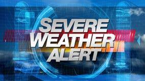 Alerta do mau tempo - título dos gráficos da transmissão ilustração do vetor