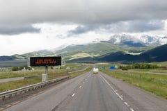 Alerta do tempo na estrada Imagem de Stock Royalty Free