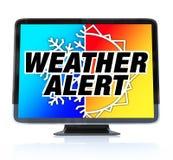 Alerta do tempo - televisão de definição elevada HDTV Fotos de Stock Royalty Free