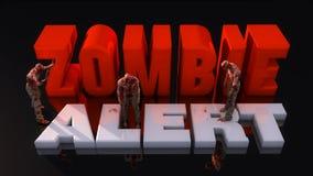 Alerta e zombis do zombi Imagem de Stock