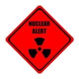 Alerta nuclear ilustração royalty free
