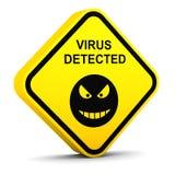 Alerta: virus detectado Fotografía de archivo libre de regalías