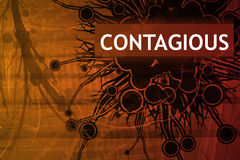 Alerte contagieuse de danger Photo stock