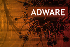 Alerte de garantie d'Adware Images stock