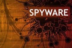 Alerte de garantie de Spyware Photo stock