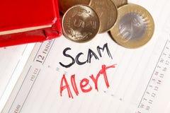 Alerte de Scam image libre de droits