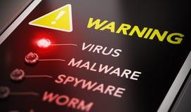 Alerte de virus illustration libre de droits