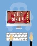 Alerte de virus Photographie stock libre de droits
