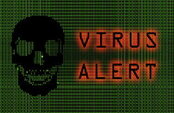 Alerte de virus Photo stock