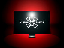 Alerte de virus Photo stock