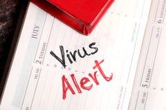 Alerte de virus image libre de droits