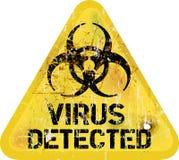 Alerte de virus informatique Photo stock