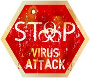 Alerte de virus informatique Images stock